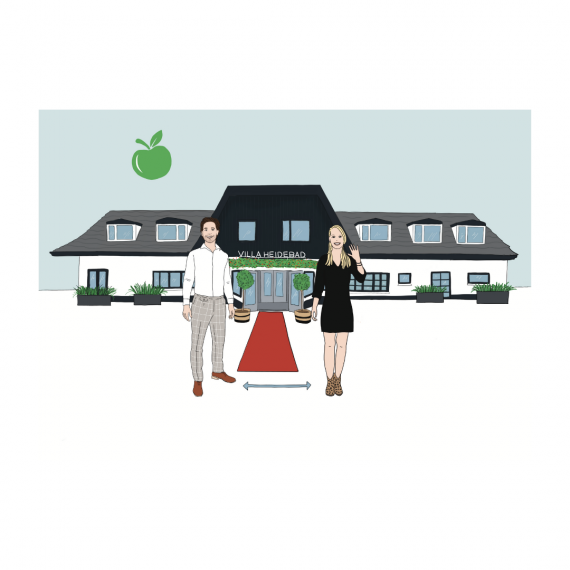 Hotel Illustratie vila Heidebad Schetsfabriek